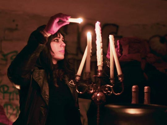 "Jex Blackmore, head of the Detroit chapter of the Satanic Temple, is a key part of the overall story told by ""Hail Satan?"""