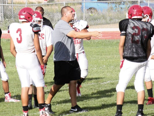 Danny Udero/Sun-News   Cobre High head football coach Jerry Martinez is working toward getting his team to fire on all cylinders. Ysleta will be a step in that direction Friday night.