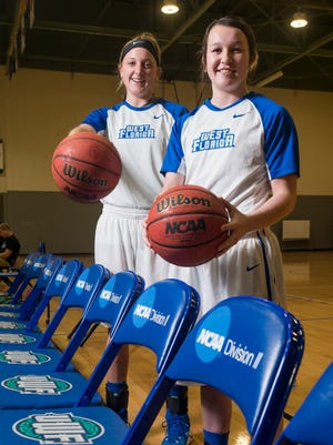 Seniors Katie Bobos left, and Alex Coyne lead UWF into the NCAA tournament that starts Friday in St. Peterburg.
