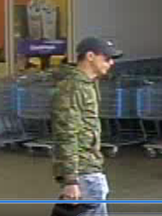 This man is wanted for questioning for allegedly using fraudulent credit cards Feb. 25 and Feb. 26 at Wal-Marts in Rutherford, Bedford, Marshall and Davidson counties.