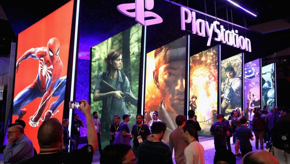 Game enthusiasts and industry personnel visit the Sony
