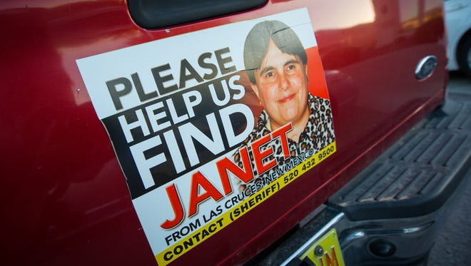 A sign on a vehicle parked outside the home of the Castrejon's asks for assistance in finding their missing daughter Janet Castrejon, June 15, 2016.