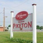 Piketon, Ohio village limits sign
