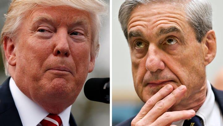 President Trump and former FBI director Robert Mueller.