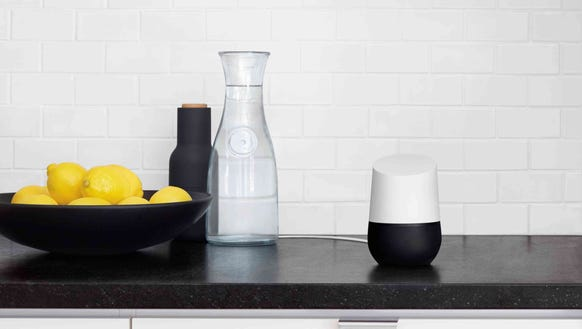 Google Home in the kitchen