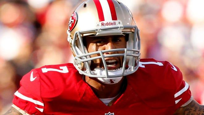 San Francisco 49ers quarterback Colin Kaepernick .