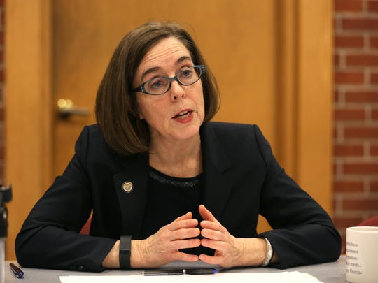 Gov. Kate Brown speaks to the Statesman Journal Editorial Board on Thursday, Feb. 4, 2016.