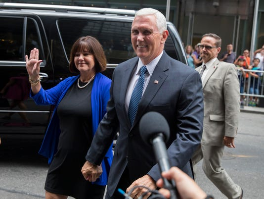 Pence 'very excited' to be Trump's No. 2 on GOP ticket