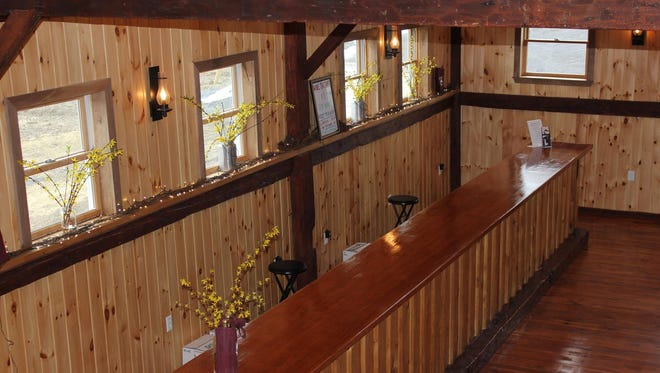 The tasting room at Keuka Lake-based Stever Hill Vineyards recently underwent a renovation that retained its rustic charm.