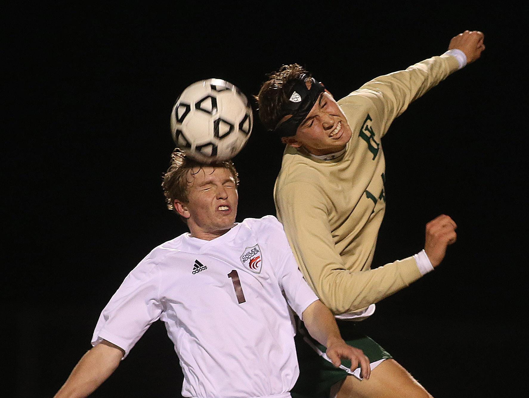 Chiles' Jimmy Gillard (left) was the All-Big Bend Player of the Year last year after scoring 26 goals with 14 assists.