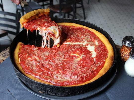 Deep Dish Pizza at Gino's East.