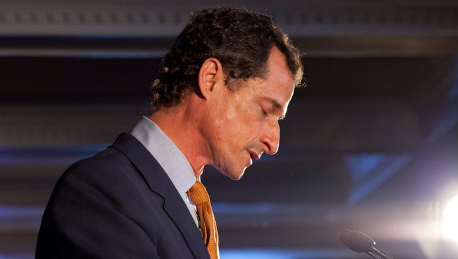 Democratic mayoral hopeful Anthony Weiner makes his concession speech Tuesday.