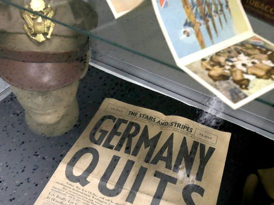An original Stars and Stripes newspaper the day Germany
