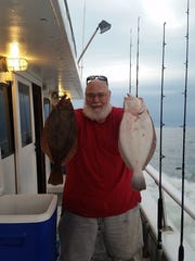 Jim Fredericks limited out on flounder during a recent