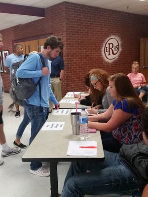 East Robertson High School students participated in a school-wide mock election, which took place over two days.