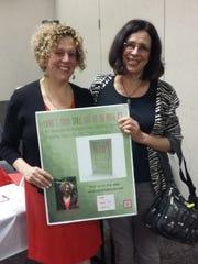 Author Ilana Tolpin Levitt with co-Vice President of Programming Linda Lidor.