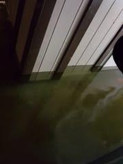 The flooded home of Porfirio De Leon, a former Tallahassee