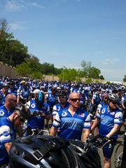 A photo from the 2014 Police Unity Tour from Florham Park, N.J., to Washington, D.C.