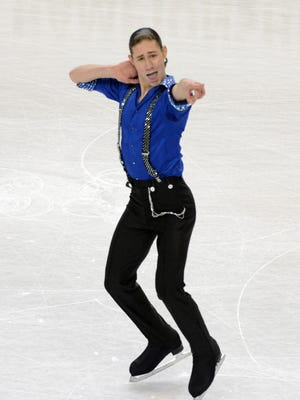 Jason Brown performs in the men's short program in the U.S. Figure Skating Championship at Greenboro Coliseum Complex.