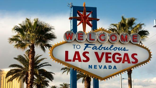 The famed Las Vegas sign