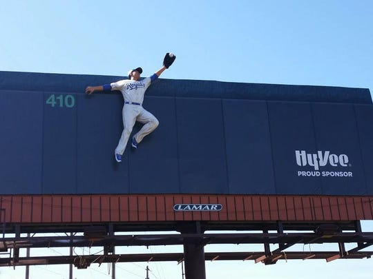 This photo provided by Lamar Advertising shows a 14-foot