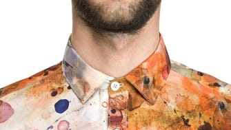 If you don't want to worry about stains, how about buying a pre-stained shirt?
