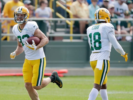 Green Bay Packers wide receiver Jordy Nelson smiles