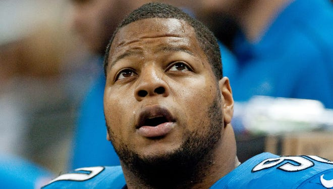 The NFL fined Lions defensive tackle Ndamukong Suh $100,000 for his low block on Vikings center John Sullivan.