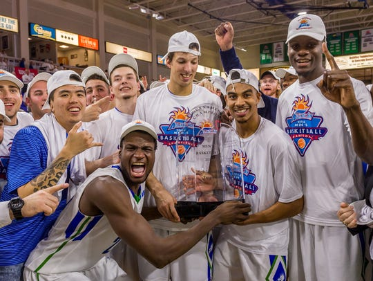 FGCU's Marc-Eddy Norelia hamming it up after the Eagles