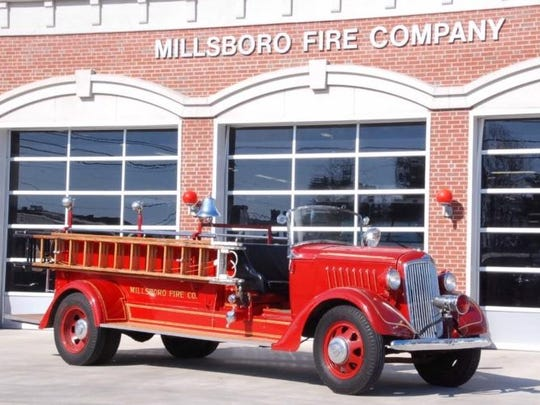 A Reo Speedwagon used by the Millsboro Fire Company.