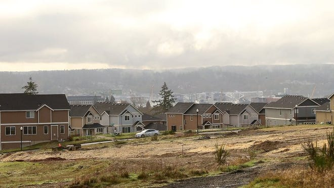 Vacant lots in the foreground await construction in Bremerton's East Park. MEEGAN M. REID / KITSAP SUN