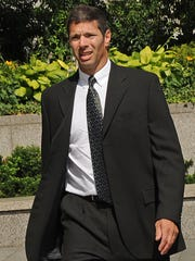Bernard Madoff's accountant David Friehling arrives at Manhattan federal court on July 17, 2009, in New York. Prosecutors say that Friehling rubberstamped Madoff's books while he served as Madoff's auditor from 1991 through 2008.