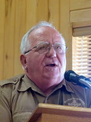 Dick Cooke, director of the Ruidoso Forestry Department, went over the origin of the fire and how the reduction of vegetation and spacing of trees helped keep it confined.