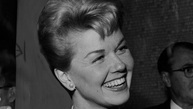 """Doris Day at the opening of MGM's thriller, """"Julie."""""""