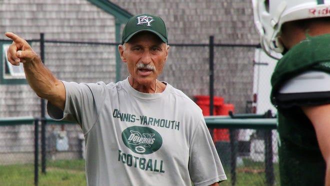 Joe Jamiel coaches D-Y in a practice last season.