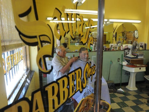 ... in August at the Santa Fe Barber Shop in Reno. (Photo: Tim Dunn/RGJ