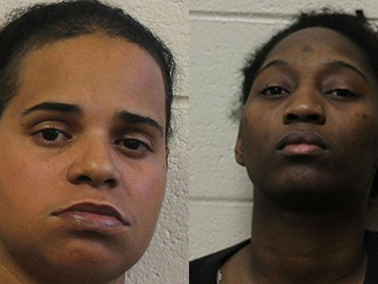 Amanda Rachelle Wright, 29, left, and Besline Joseph,