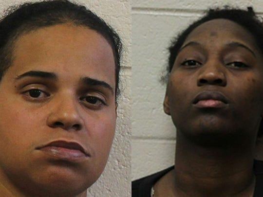 Amanda Rachelle Wright, 29, left, and Besline Joseph,