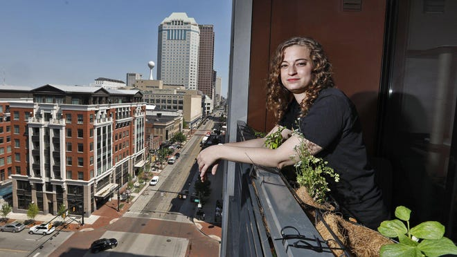 Morgan Hess says that she and her boyfriend were overcome by tear gas as they watched a protest from the balcony of their seventh-floor apartment on South High Street Downtown weeks ago.