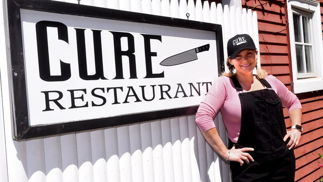 Julie Cutting, owner-executive chef of Cure Restaurant in Portsmouth.