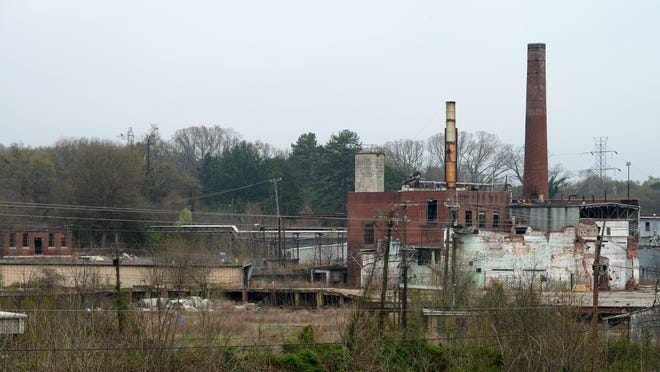The former Union Bleachery/US Finishing plant on Old Buncombe Road in a Superfund site.