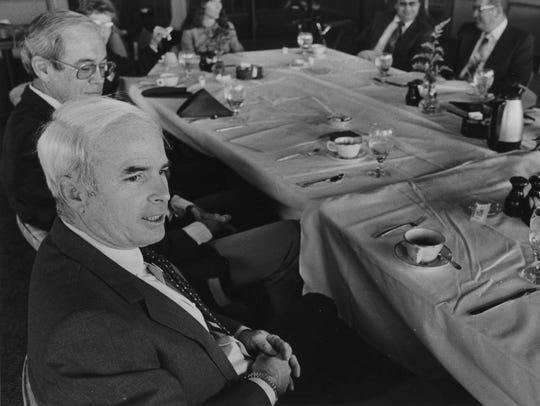 John McCain, congressman-elect, on Nov. 11, 1982.