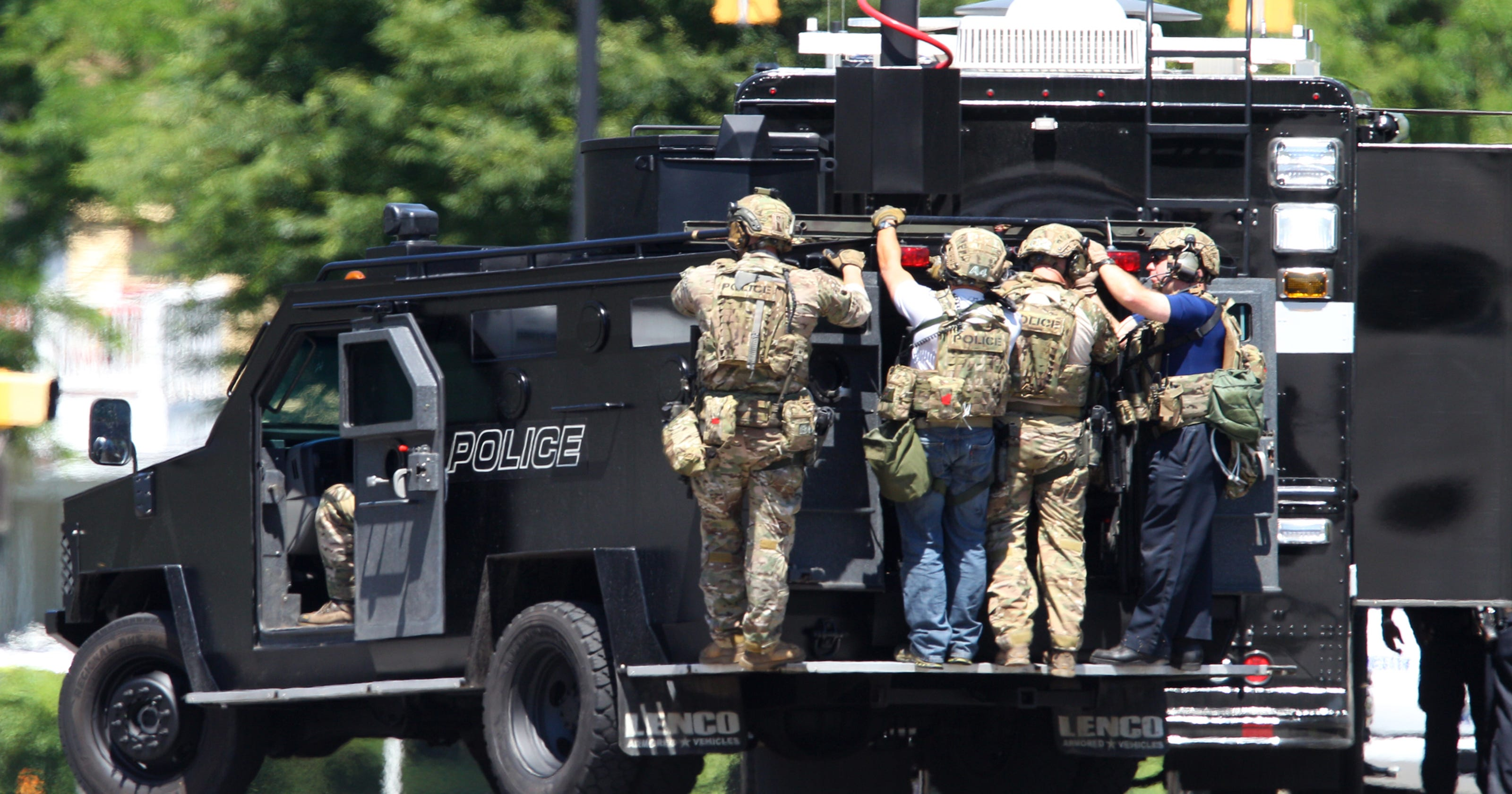 Local police have military gear, too