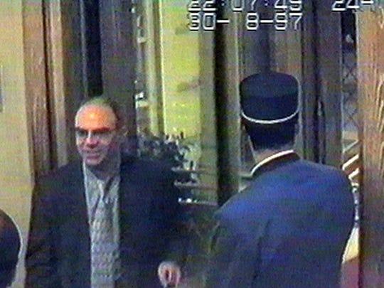 Henri Paul arrives at the Ritz Hotel in Paris Saturday