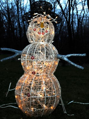Part of a display in 6,000 lights, 2012, Mansfield.