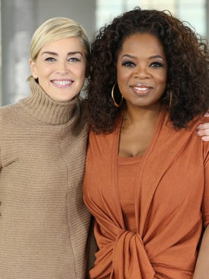 Sharon Stone sits down with Oprah Winfrey on 'Oprah Prime' on March 16.