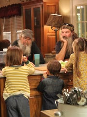 The Robertson family stars in a scene from the television series 'Duck Dynasty' Season 5.