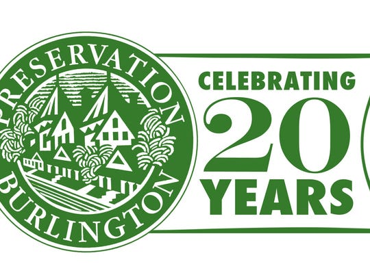 Logo for Preservation Burlington's 20th homes tour