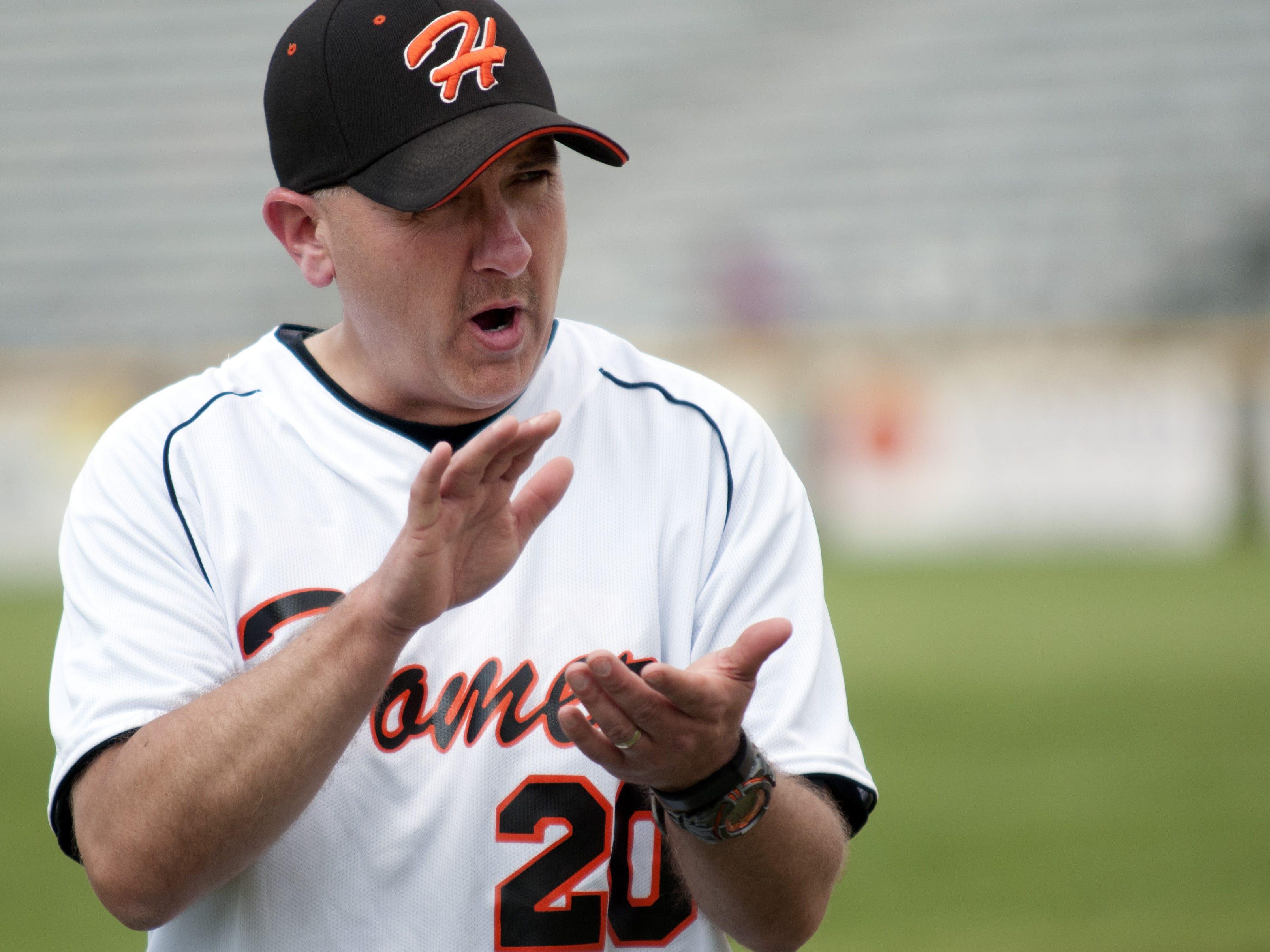 Homer baseball coach Scott Salow.