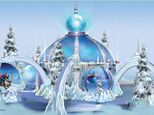 "The interactive ""Frozen"" ice palace opens Nov. 6 at"